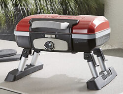 Cuisinart Cgg-180t Petite Gourmet Portable Tabletop Red Gas Grill Camp Boat Apt