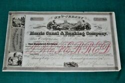 S339,morris Canal And Banking Co,jersey City Nj,1875,nice Vignettes Stock