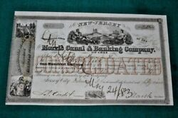 S340,morris Canal And Banking Co,jersey City Nj,1859,nice Vignettes Stock