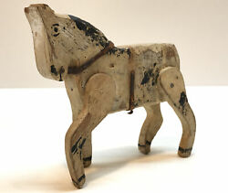 Early Aafa Antique Folk Art Wood Toy Horse Original Hand Painted Carved