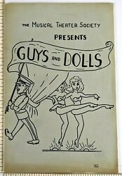 1968 Hunter College Guys and Dolls Musical Theater Society Program New York NY