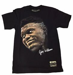 Mitchell And Ness Black Nba Player Zion Williamson Real Big Face T-shirt