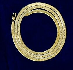 Two 14k Yellow Gold Italian Herringbone Necklaces 30 And 24 Vintage 48.32g