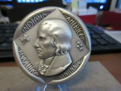 1976 American Revolution Bicentennial/ Indiana State .999 Silver Medal 63mm Maco