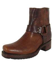 Frye Womens Heirloom Harness Back Zip Up Square Toe Boots