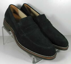 592779 Ms50 Menand039s Shoes Size 13 M Black Suede Slip On Johnston And Murphy