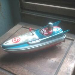 Antique Japanese Tin Toys Yonezawa Toys Boat S-queen Made In Japan