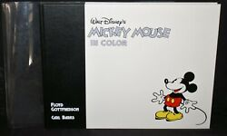 O1. Hc. 1st Ed Walt Disneyand039s Mickey Mouse In Color Signed Carl Barks 2688/3000