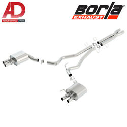 Borla 140684 Atak Cat-back Exhaust For 2015-2020 Ford Mustang Shelby Gt 350 5.2l