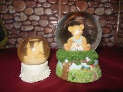 Two Vintage Snow Globes