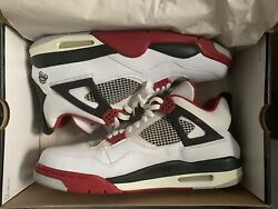 Air Jordan 4 Retro Mars Spike Lee Fire Reds Size 12 New With Box