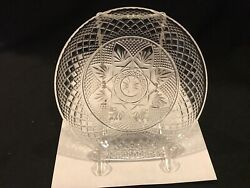 Vintage Luminarc Clear Saladsnack Plates Cris Dand039arques/durand 8 Made In Usa