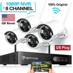 8ch Hd 1080p Wireless Security Cctv Camera System 2/5mp Wifi Nvr/dvr Kit Outdoor