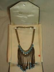 Vintage Whitehall Co. Jewelers Necklace Multi-strand Jewelry In Display