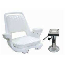 Springfield 5 Seat Captain Chair Wd1007 Pedestal Wp21-374 Adjust 13-16 Boat Ma