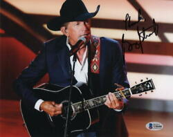 George Strait Signed Autograph 8x10 Photo - King Of Country Out Of The Box Bas