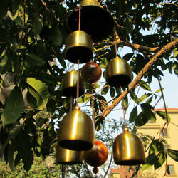 Metal Wind Chimes 6 Bell Outdoor Garden Yard Home Hanging Decor Dragon Vintage