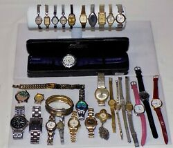 Lot Of 31 Vintage Watches. Gold F And E, Elgin, Bulova, Caravelle, Benrus And More