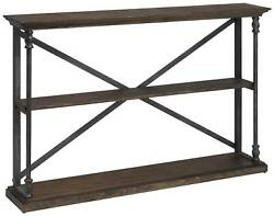 Corbin 47 1/2 Wide Two-shelf Wood And Iron Book Case