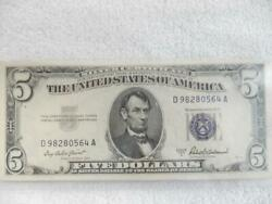 Lot Of 9 1953 A Blue Seal 5 Silver Certificates Mint, Consecutive   T150