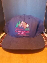 Vtg Fort Wilderness Lodge Resort Cap Hat Disney Mickey Mouse New With Tags