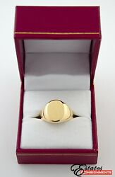 And Co 18k Yellow Gold Oval Signet Size 7 Ring