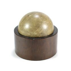 1800s Antique Geometry Globe Sphere Classroom Model On Wood Base W/ Increments