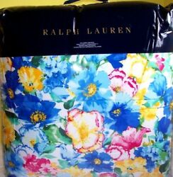 Ashlyn Floral Queen Comforter +quilted Euros Blue Yellow Pink Green