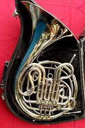 Holton H179 Double French Horn Elkhorn Wi. Serial 605902 With Carry Case