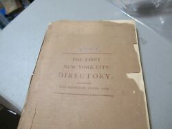 First New York City Nyc Directory 1786 Reprint Of 1886 Map Old Advertisements