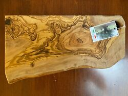 Olive Wood Cutting Board Bread Challah Chopping Vegetables Carving Meat Italy