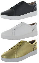 Fitflop Womens Rally Scallop Leather Sneaker Shoes