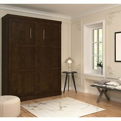 Full Size Wall Bed In Brown Color Luxury Beds Frame For Bedrooms Space Saving