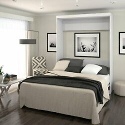 Full Size Wall Bed In White Color Luxury Beds Frame For Bedrooms Space Saving