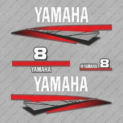 Yamaha 8 Hp Two 2 Stroke Outboard Engine Decals Sticker Set Reproduction 8hp