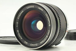 [exc+5] Olympus Om-system Zuiko Mc Auto-w 24mm F2 Mf Wide Angle Lens From Japan