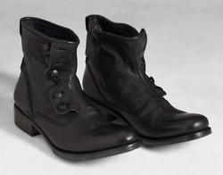 Size 15 John Varvatos Made Italy Leather Mens Boot Shoe Reg900 Sale799