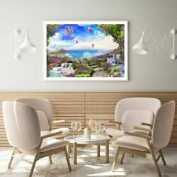 Hot Balloons Over Nature Scenery Print Premium Poster High Quality Choose Sizes