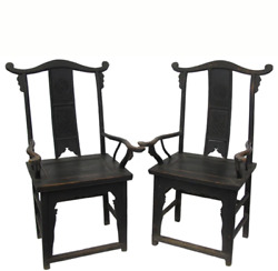 Black Antique Chinese Armchair