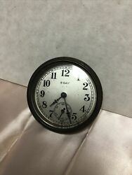 Vintage 8 Day Automobile Car Clock For Parts Or Repair