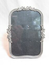 pre owned Fetco home decor picture frame ornate pewter flower scroll detail