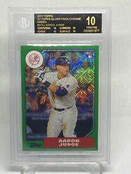 2017 Topps Silver Pack Aaron Judge Auto Rc Bgs 10 Black Label Refractor 69/150