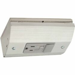 Under Cabinet Angled Power Strip Gfci And Light Switch Outlet Stainless