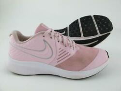 Nike Star Runner 2.0 Pink Leather Girls Youth Size 4.5Y Athletic Sneakers Shoes $17.60