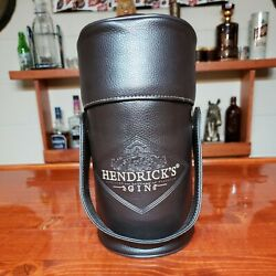 Hendricks Gin Embroidered Leather Bottle Cover Caddy Case Keeper Transport Rare