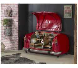Smithers Red Old Classic Ambassador Car Cocktail Bar Retro Vintage Style