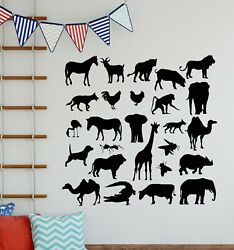Vinyl Wall Decal Animals Collection Zoo Child Room Nursery Stickers g5557