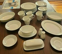Noritake Cumberland 2225 Pattern 8 Setting - Includes Butter Dish And Shakers