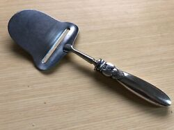 Georg Jensen Cactus Sterling Silver Cheese Plane 8 1/8 Stainless Blade