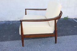 Modern American Maple Side End Lounge Armchair C. 1950 New Upholstery